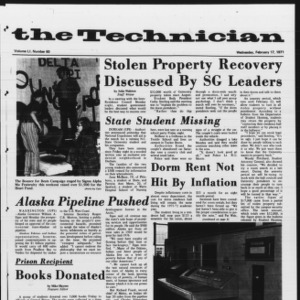 Technician, Vol. 51 No. 60, February 17, 1971