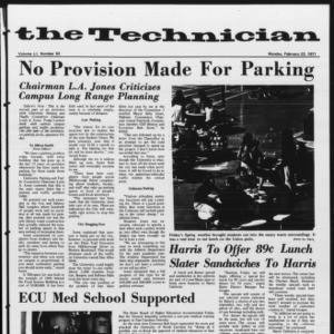 Technician, Vol. 51 No. 62, February 22, 1971