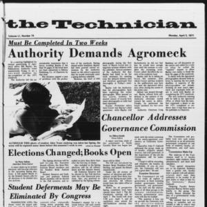Technician, Vol. 51 No. 74, April 5, 1971