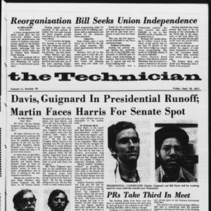 Technician, Vol. 51 No. 78, April 16, 1971