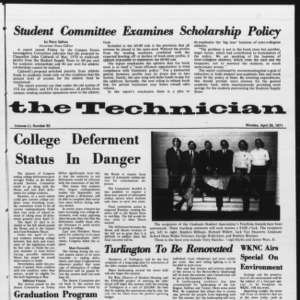 Technician, Vol. 51 No. 82, April 26, 1971