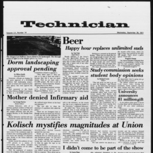 Technician, Vol. 52 No. 14, September 29, 1971