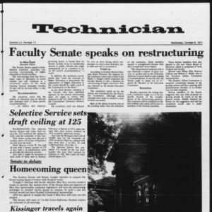 Technician, Vol. 52 No. 17, October 6, 1971