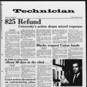 Technician, Vol. 52 No. 21, October 15, 1971