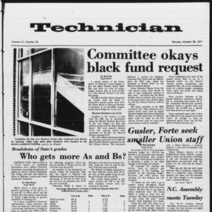 Technician, Vol. 52 No. 25, October 25, 1971