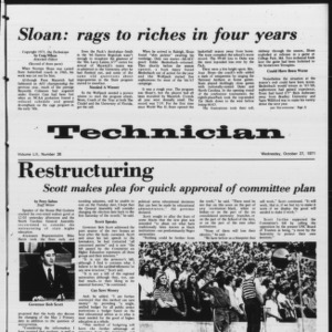 Technician, Vol. 52 No. 26, October 27, 1971