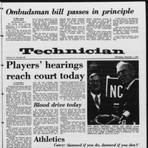 Technician, Vol. 52 No. 38, December 1, 1971