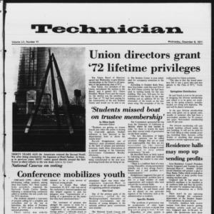 Technician, Vol. 52 No. 41, December 8, 1971