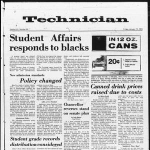 Technician, Vol. 52 No. 43 [44], January 14, 1972