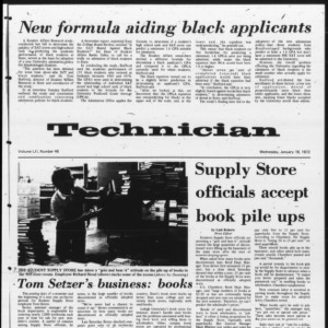 Technician, Vol. 52 No. 46, January 19, 1972