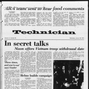 Technician, Vol. 52 No. 49, January 26, 1972