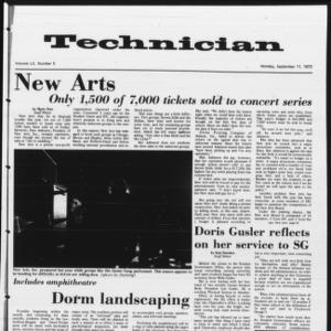 Technician, Vol. 52 No. 5 [Vol. 53 No. 5], September 11, 1972