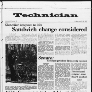 Technician, Vol. 52 No. 50, January 28, 1972
