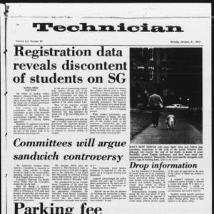 Technician, Vol. 52 No. 51, January 31, 1972