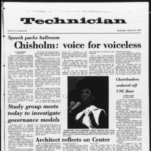 Technician, Vol. 52 No. 55, February 9, 1972