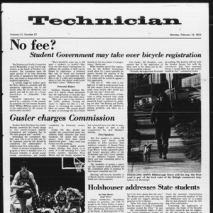 Technician, Vol. 52 No. 57, February 14, 1972