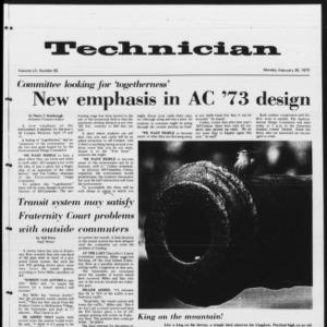 Technician, Vol. 52 No. 62 [Vol. 53 No. 61], February 26, 1972
