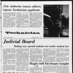 Technician, Vol. 52 No. 64, March 1, 1972