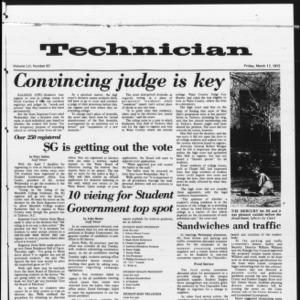 Technician, Vol. 52 No. 67, March 17, 1972