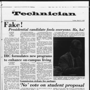 Technician, Vol. 52 No. 69, March 21, 1972
