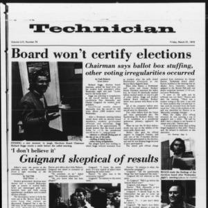 Technician, Vol. 52 No. 75, March 31, 1972