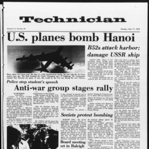 Technician, Vol. 52 No. 81, April 17, 1972