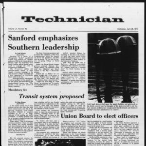 Technician, Vol. 52 No. 85, April 26, 1972