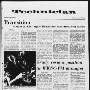 Technician, Vol. 53 No. 31, November 10, 1972