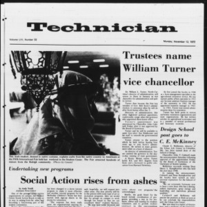 Technician, Vol. 53 No. 32, November 13, 1972