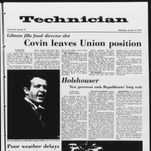 Technician, Vol. 53 No. 41, January 10, 1973