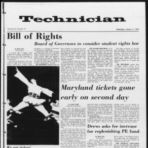 Technician, Vol. 53 No. 44, January 17, 1973