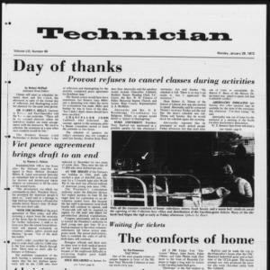 Technician, Vol. 53 No. 49, January 29, 1973