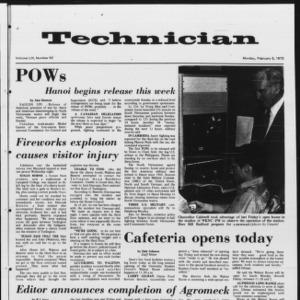 Technician, Vol. 53 No. 52, February 5, 1973