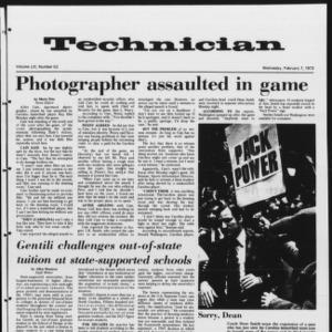 Technician, Vol. 53 No. 53, February 7, 1973