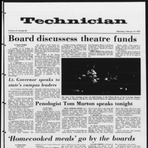 Technician, Vol. 53 No. 56, February 14, 1973