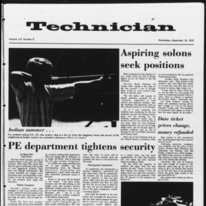 Technician, Vol. 53 No. 6, September 13, 1972