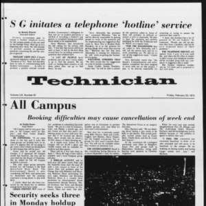 Technician, Vol. 53 No. 61 [60], February 23, 1973