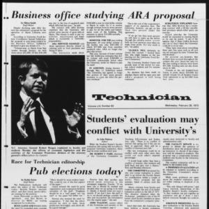 Technician, Vol. 53 No. 62, February 28, 1973