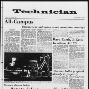 Technician, Vol. 53 No. 65, March 16, 1973