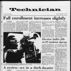 Technician, Vol. 53 No. 7, September 15, 1972