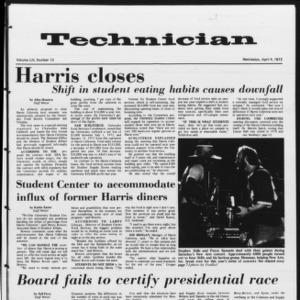 Technician, Vol. 53 No. 73, April 4, 1973