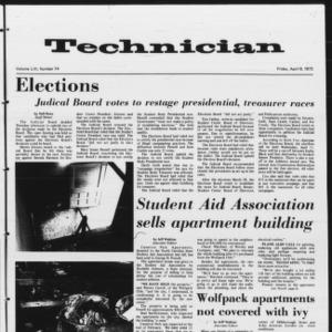 Technician, Vol. 53 No. 74, April 6, 1973