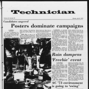Technician, Vol. 53 No. 75, April 9, 1973