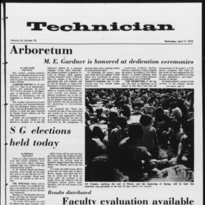 Technician, Vol. 53 No. 76, April 11, 1973