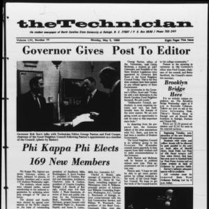 Technician, Vol. 53 No. 77 [Vol. 49 No. 77], May 5, 1969