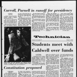 Technician, Vol. 53 No. 77, April 13, 1973