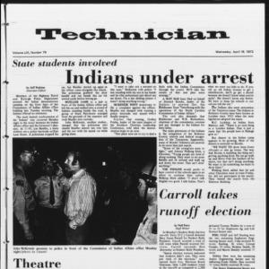 Technician, Vol. 53 No. 79, April 18, 1973