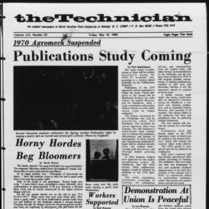 Technician, Vol. 53 No. 82 [Vol. 49 No. 82], May 16, 1969