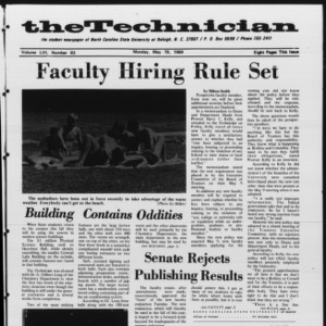 Technician, Vol. 53 No. 83 [Vol. 49 No. 83], May 19, 1969