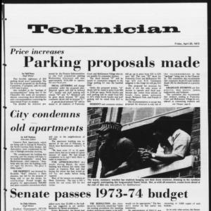 Technician, Vol. 53 No. 87 [80], April 20, 1973